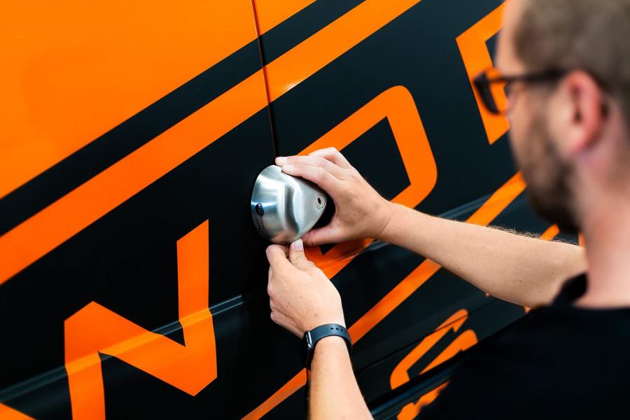 Équipement de sécurité tel qu'antivol, alarmes et extincteurs pour votre utilitaire