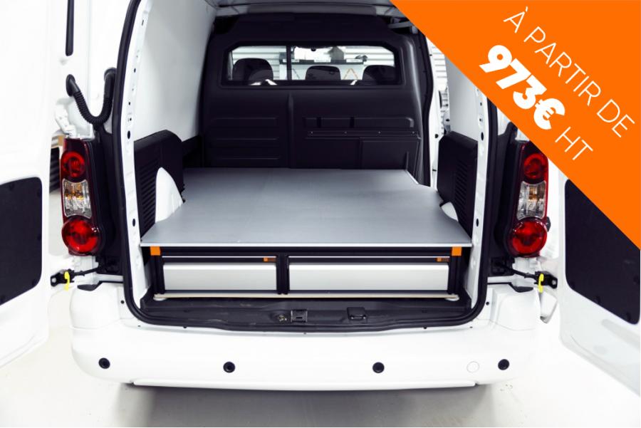 Un double plancher ou plancher surélevé permet d'optimiser l'espace utile de votre véhicule professionnel.