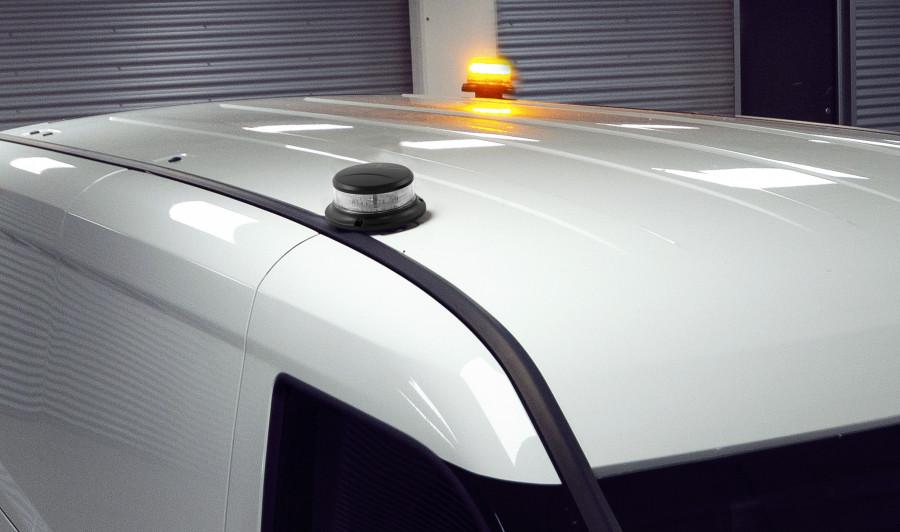 Gyrophares de signalisation de travaux routiers en cours
