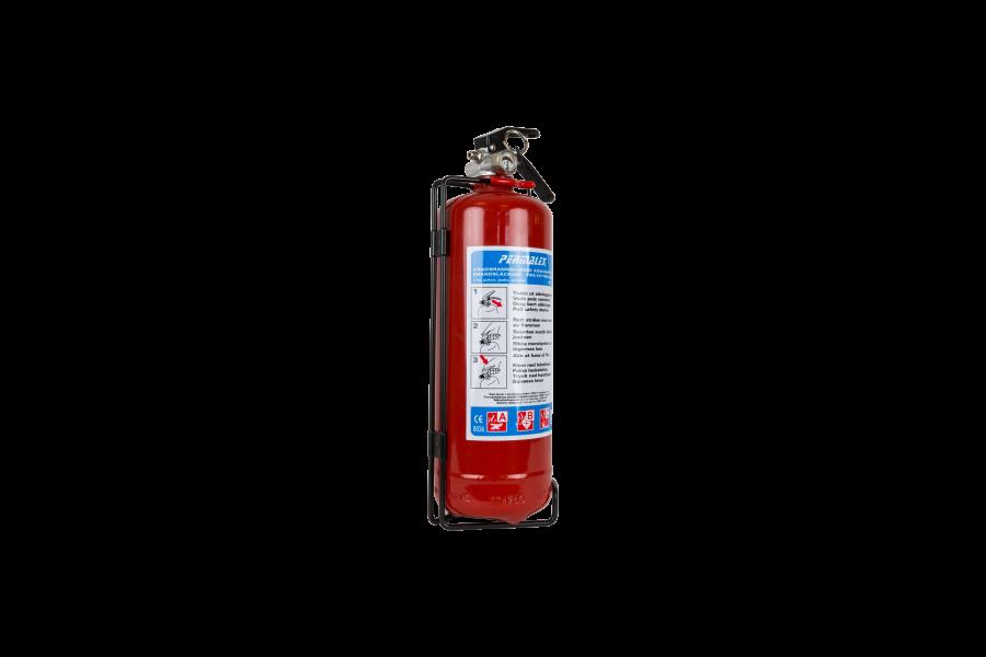 Brandsläckare 2kg pulver ABC godkännd med fordonsfäste.