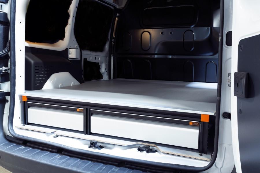 Double Plancher H: 202mm 3 tiroirs pour citan et kangoo L1H1 | Work System