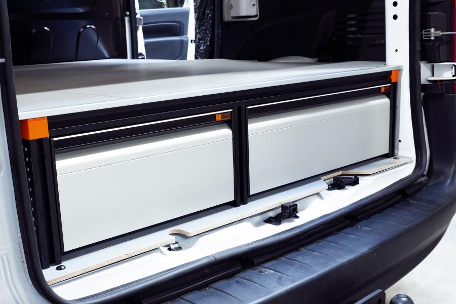 Double Plancher H: 272mm 3 tiroirs pour citan et kangoo L1H1 | Work System