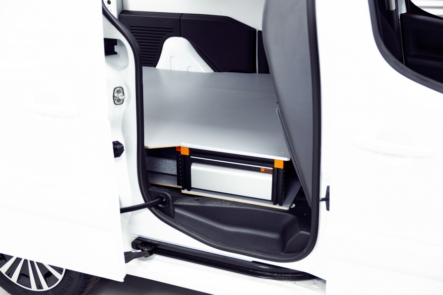 Double Plancher H: 202mm 3 tiroirs pour Berlingo et partner L1H1 | Work System