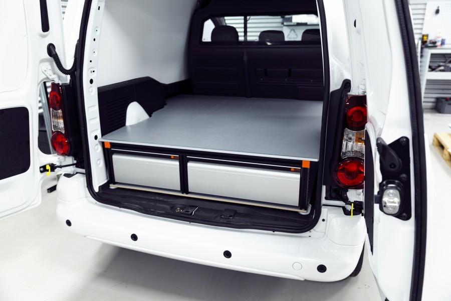 Double Plancher H: 272mm 3 tiroirs pour Berlingo et Partner L1H1 | Work System