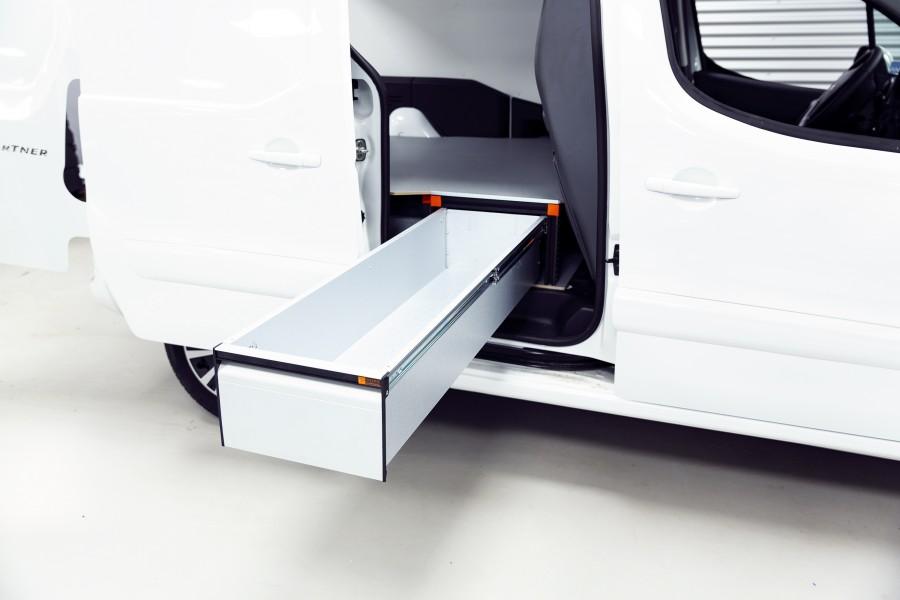 Double Plancher H: 272mm 3 tiroirs pour berlingo et partner L2H1   Work System