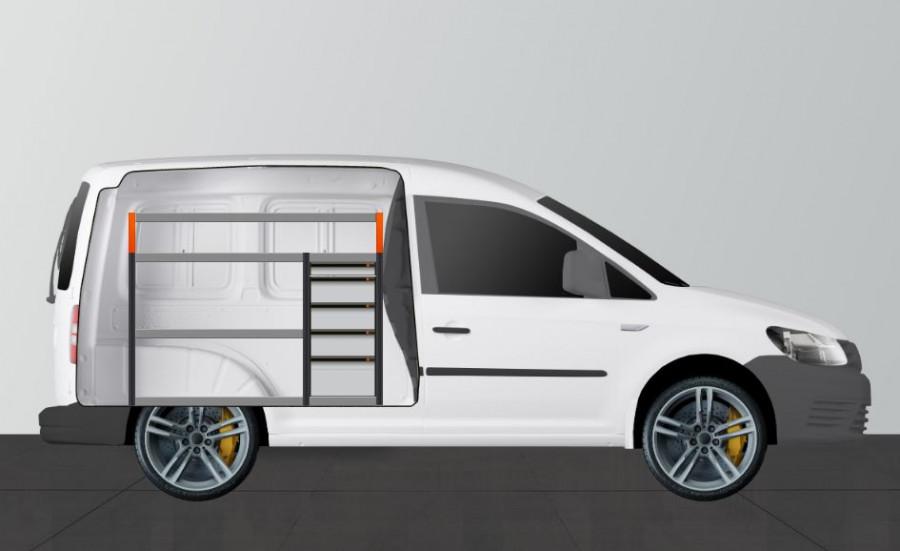 V-PRO Aménagement Utilitaire pour VW Caddy Standard