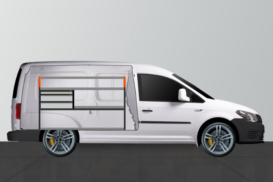 V- LS3 Aménagement Utilitaire pour VW Caddy Maxi L2H1