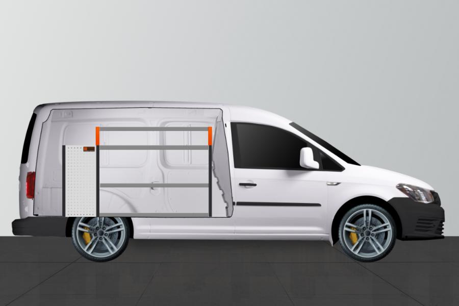 V-LB6 Aménagement Utilitaire pour Caddy Maxi - WorkSystem