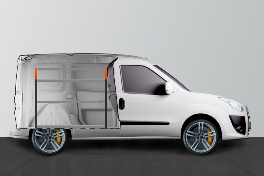 V-ESSENTIEL Aménagement Utilitaire pour Fiat Doblo & Opel Combo L1 Work System