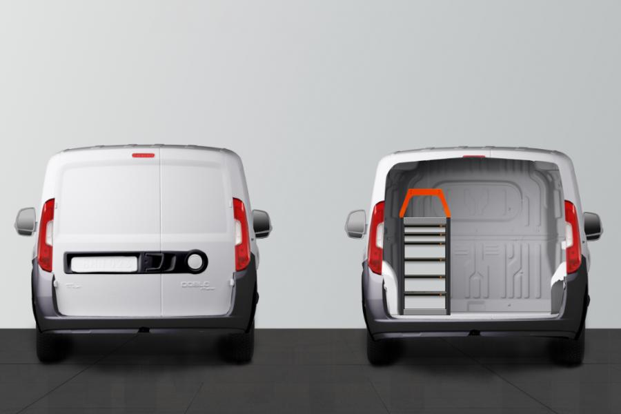 V-LB6 Aménagement Utilitaire pour Fiat Doblo & Opel Combo L1 - Worksystem