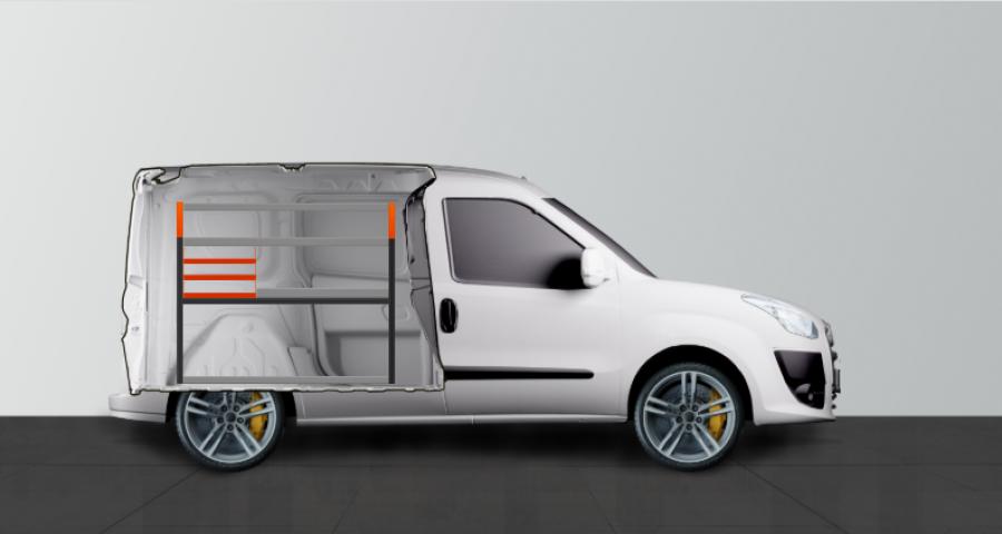 V-SS3 Aménagement Utilitaire pour Fiat Doblo & Opel Combo L1 - WorkSystem