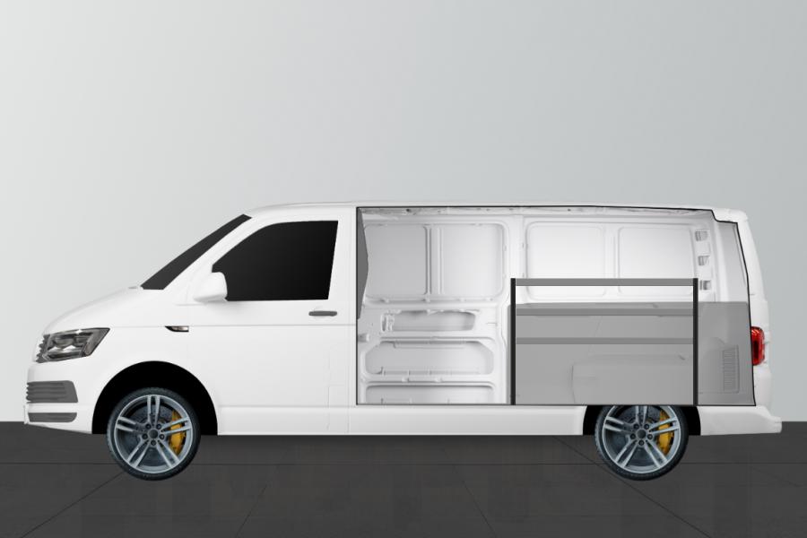H-BAS Aménagement Utilitaire pour VW Transporter L2H1