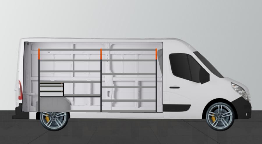 V- LS3 Aménagement Utilitaire pour Movano, Master & NV400 L3H2