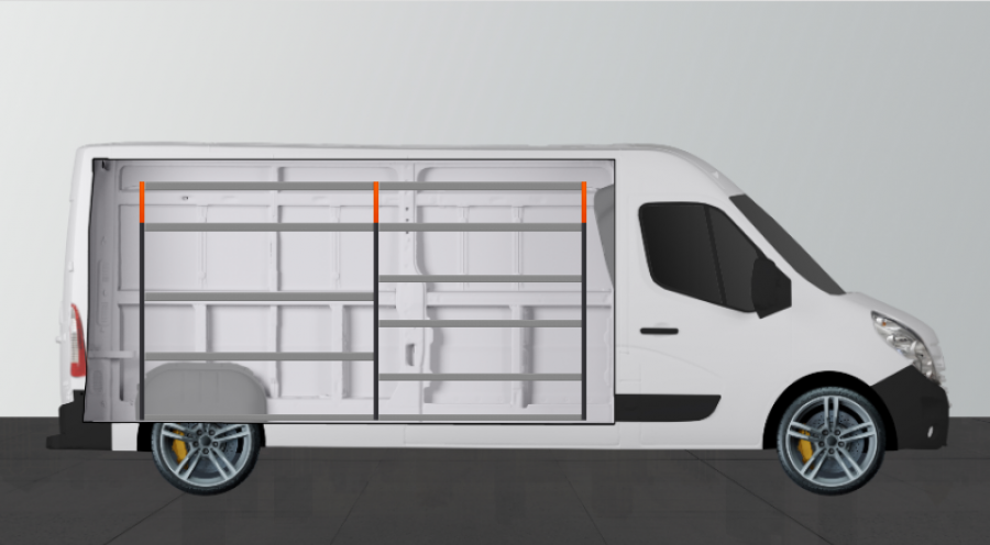 V-ESSENTIEL Aménagement Utilitaire pour Movano, Master & NV400 L3H2 Work System