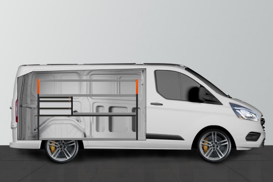 V- LS3 Aménagement Utilitaire pour Ford Custom L1H1