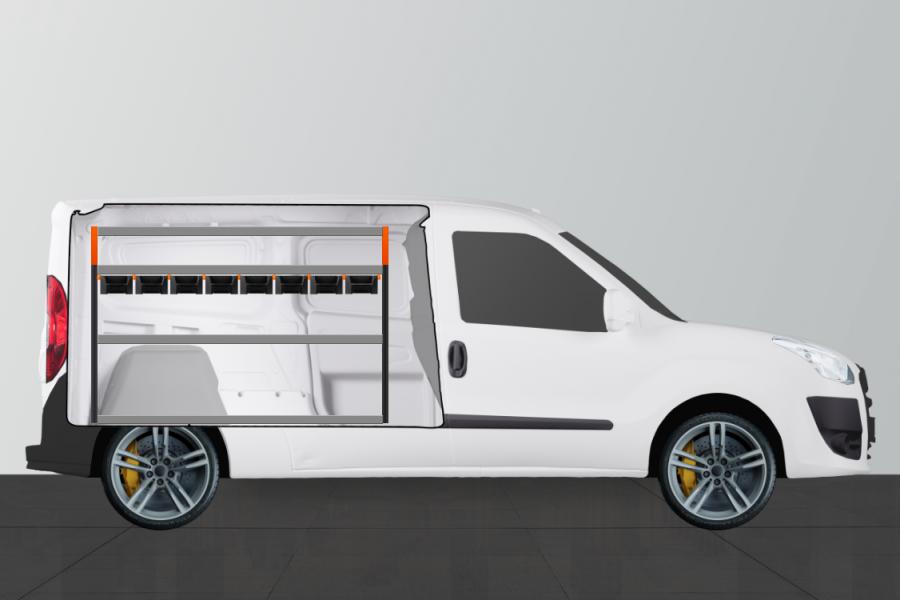 V-ENKEL+ Aménagement Utilitaire pour Fiat Doblo & Opel Combo L2H1