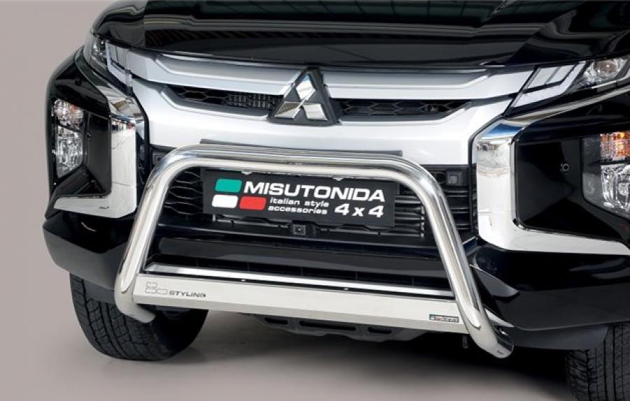 Frontbåge EU godkänd 63mm rostfri Mitsubishi L200 2016-